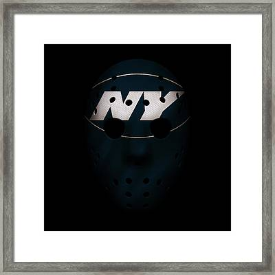 Jets War Mask 3 Framed Print by Joe Hamilton