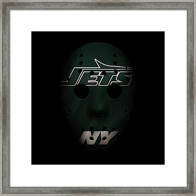 Jets War Mask 4 Framed Print by Joe Hamilton