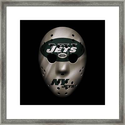Jets War Mask Framed Print by Joe Hamilton