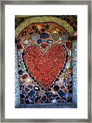 Jewel Heart Framed Print by Susanne Van Hulst