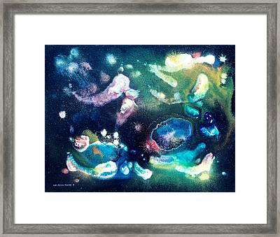 Jeweled Pegasus Framed Print by Lee Pantas