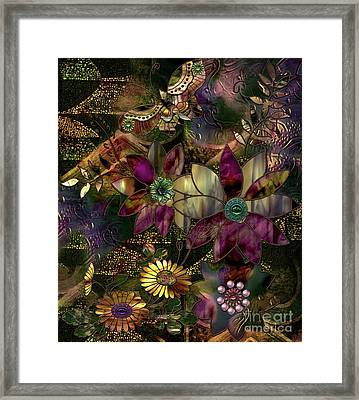 Jewelry Box Garden Framed Print by Mindy Sommers
