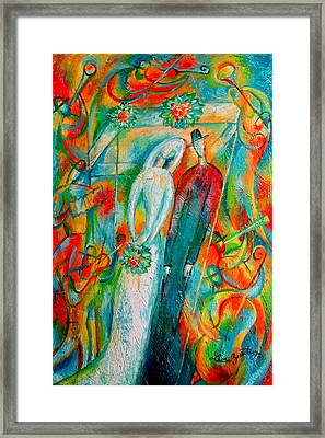Jewish Wedding Framed Print by Leon Zernitsky