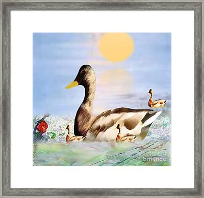 Jhot Summer Day Framed Print by Belinda Threeths