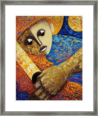 Jibaro Y Sol Framed Print by Oscar Ortiz