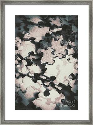 Jigsaws Of Double Exposure Framed Print by Jorgo Photography - Wall Art Gallery