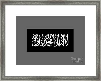 Jihad Flag Framed Print by Frederick Holiday