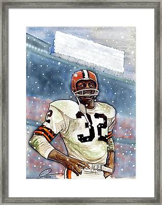 Jim Brown Framed Print by Dave Olsen