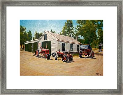 Jim Build Framed Print by Jeff Toole