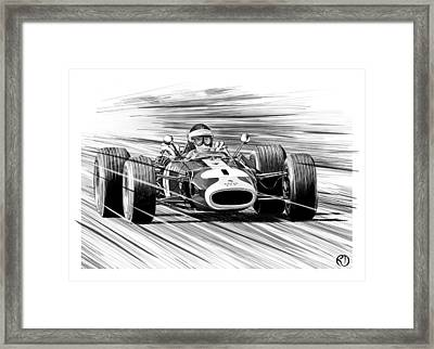 Jim Clark Lotus Framed Print by Robin DaSilva