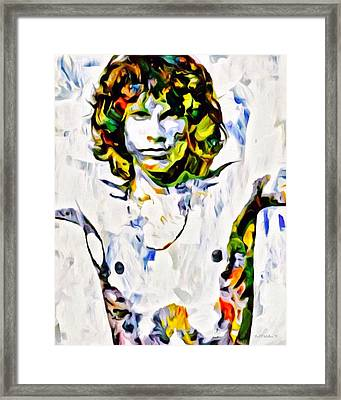 Jim Morrison Graffiti Portrait Framed Print by Scott Wallace