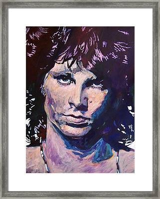 Jim Morrison The Lizard King Framed Print by David Lloyd Glover
