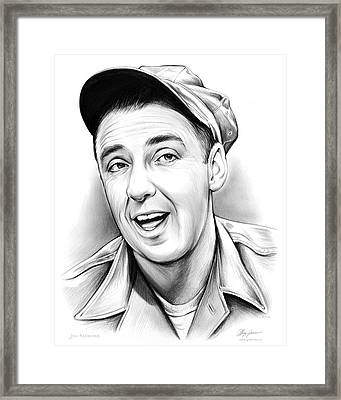 Jim Nabors Framed Print by Greg Joens