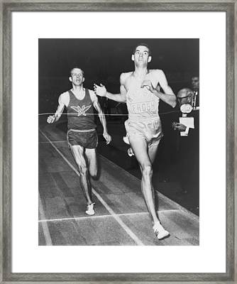 Jim Ryun B. 1947, Winning The 1966 Framed Print by Everett