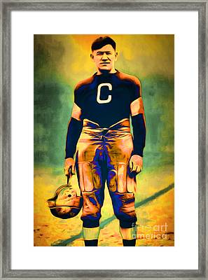 Jim Thorpe Vintage Football 20151220 Framed Print by Wingsdomain Art and Photography