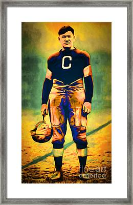 Jim Thorpe Vintage Football 20151220long Framed Print by Wingsdomain Art and Photography