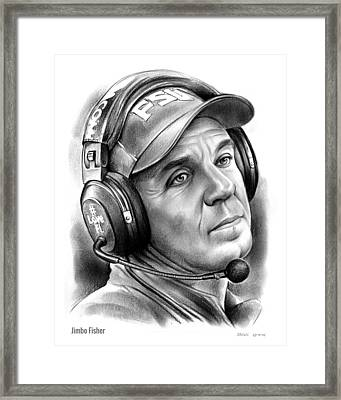 Jimbo Fisher Framed Print by Greg Joens
