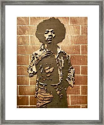 Jimi Framed Print by Bobby Zeik