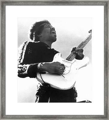 Jimi Hendrix (1942-1970) Framed Print by Granger