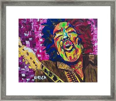 Jimi Hendrix 3 Framed Print by Robert Kirsch