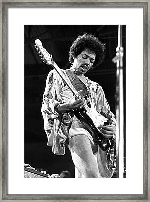 Jimi Hendrix 9 24by36 Framed Print by Chris Walter