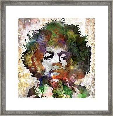 Jimi Hendrix Framed Print by Bobby Zeik