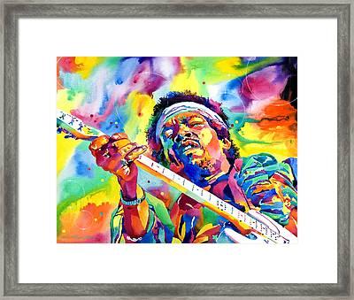 Jimi Hendrix Electric Framed Print by David Lloyd Glover
