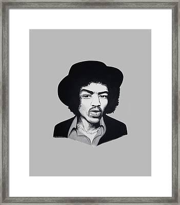 Jimi Hendrix  Framed Print by Ivana Hlavca