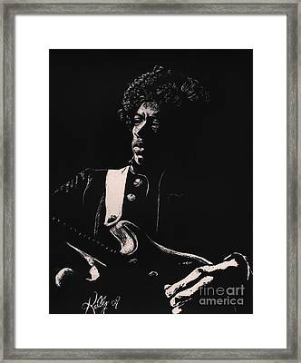 Jimi Hendrix Framed Print by Kathleen Kelly Thompson