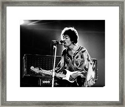 Jimi Hendrix Live Halo 1970 Framed Print by Chris Walter