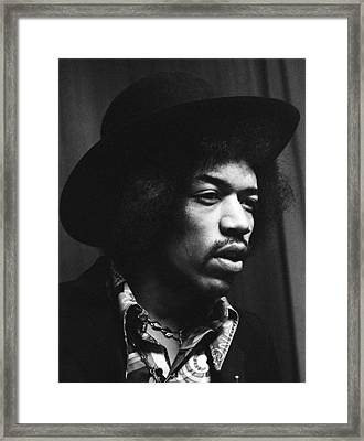 Jimi Hendrix Profile 1967 Framed Print by Chris Walter