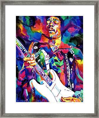 Jimi Hendrix Purple Framed Print by David Lloyd Glover