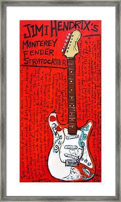 Jimi Hendrix's Monterey Strat Framed Print by Karl Haglund