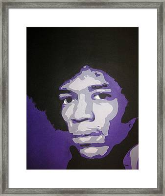 Jimi Framed Print by Rock Rivard