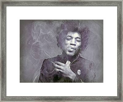 Jimi's Fug  Framed Print by Mal Bray