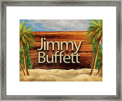 Jimmy Buffett Tee Framed Print by Edward Fielding