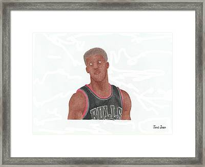 Jimmy Butler Framed Print by Toni Jaso