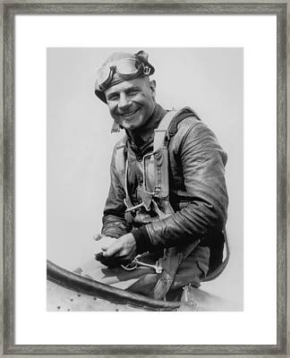 Jimmy Doolittle - Vintage Aviation Photo Framed Print by War Is Hell Store