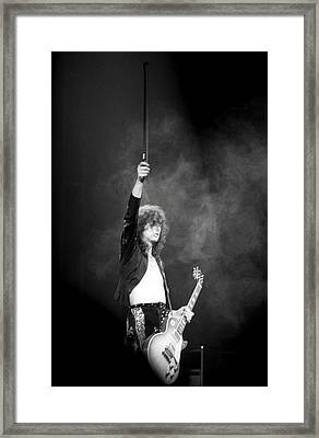 Jimmy Page 1 Framed Print by Mike Norton