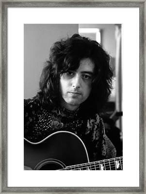 Jimmy Page 1970 Framed Print by Chris Walter