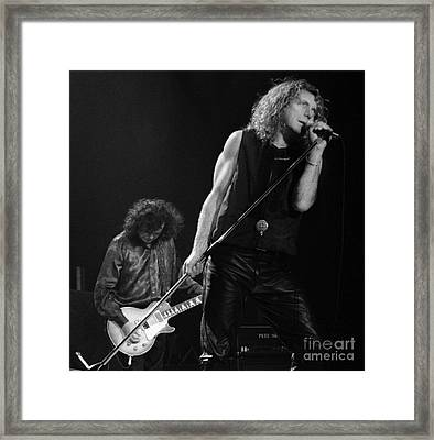 Jimmy Page N Robert Plant-0015 Framed Print by Timothy Bischoff