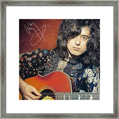 Jimmy Page Framed Print by Taylan Soyturk
