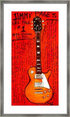 Jimmy Page's Les Paul Number1 Framed Print by Karl Haglund