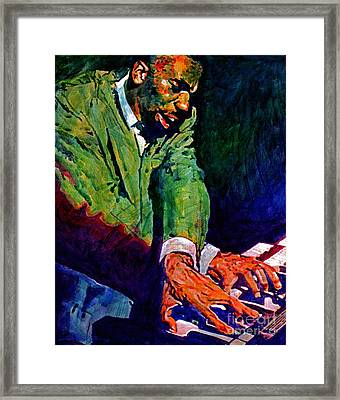 Jimmy Smith Root Down Framed Print by David Lloyd Glover