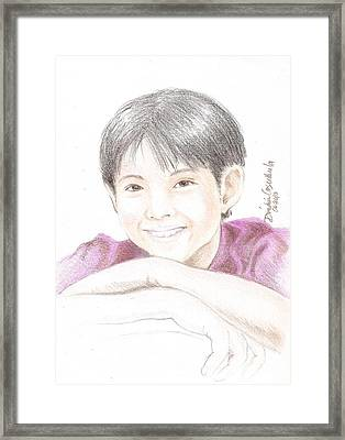 Jiro Framed Print by Dindin Coscolluela