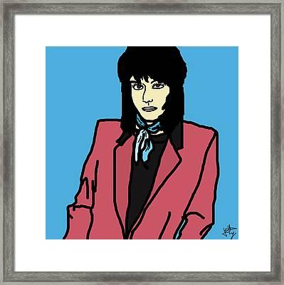 Joan Jett Framed Print by Jera Sky