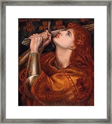 Joan Of Arc Framed Print by Dante Gabriel Rossetti