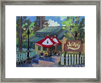 Jo'an's Restaurant In Idyllwild Framed Print by Diane McClary
