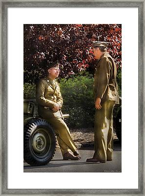 Job - Army - Remembrance  Framed Print by Mike Savad