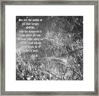 Job Eight Thirteen And Fourteen Framed Print by D R TeesT